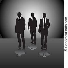 Tres hombres de negocios