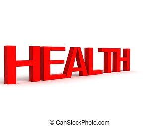 Tres letras dimensionales de salud