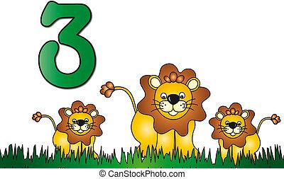 Tres números