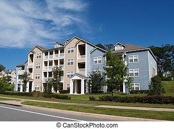 Tres pisos, apartamentos, Townhou