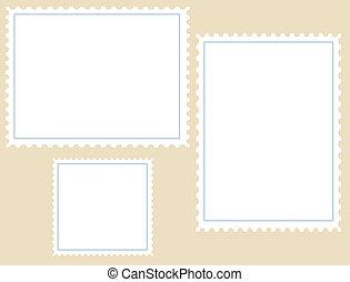Tres sellos en blanco