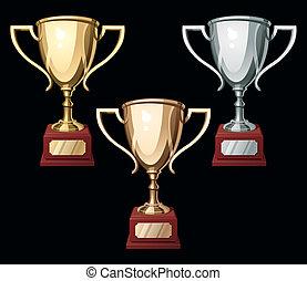Tres tazas de deporte
