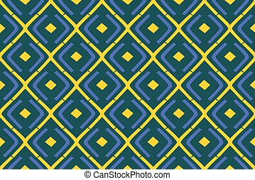 triángulo, amarillo, patrón, seamless, triangular, azul, geométrico, vector, elegante