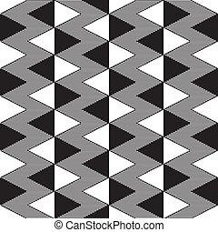 Triángulo blanco y negro