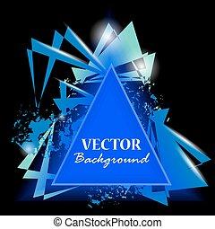 Triángulos abstractos. Trasfondo triángulo. Ilustración de vectores
