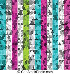 Triángulos de colores separados con efecto grunge