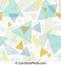 Triángulos de tejidos aislados