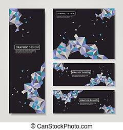 Triángulos geométricos coloridos diseñados para estandartes