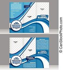 Tri doble folleto corporativo
