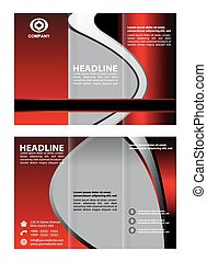 Tri doble vector de folleto corporativo