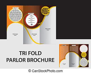 Tri FOLD PARLOR BROCHURE VECTOR