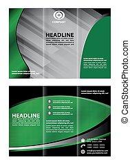 Tri pliegue de folleto