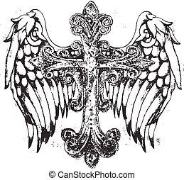 tribal, cruz, ala