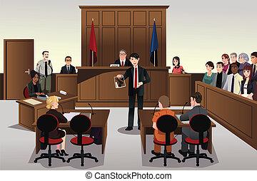 tribunal, escena