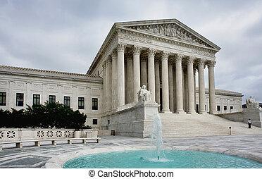 tribunal, supremo, edificio.