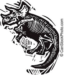 triceratops, fósil