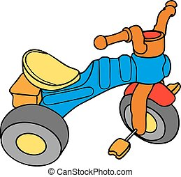 triciclos coloridos