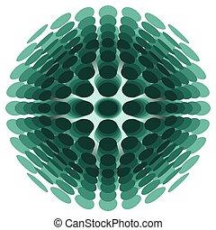 tridimensional, círculos