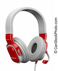 tridimensional, headphones., 3d