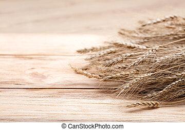 Trigo en madera