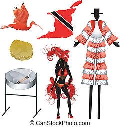 trinidad, tobago, iconos