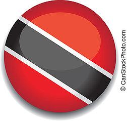 Trinidad y bandera de botón de tobago