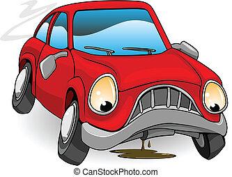 Triste auto roto