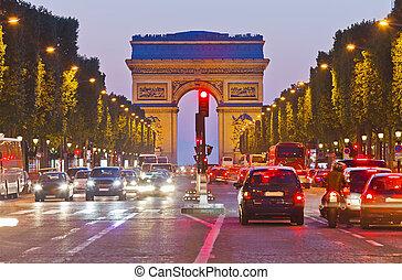 triunfo, arco, parís, francia