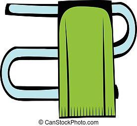 Trompeta con una caricatura de icono de toalla