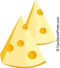 Trozos de queso