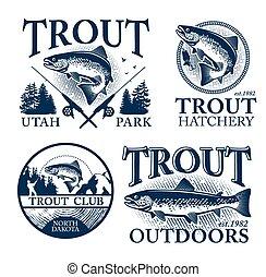 trucha, pesca