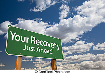 Tu señal de recuperación de la carretera verde
