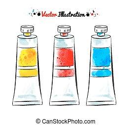 tubes., pintura
