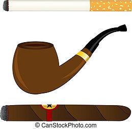 tubo, cigarro, cigarrillo