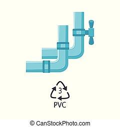 Tubos de plomería plástico de vector PVC