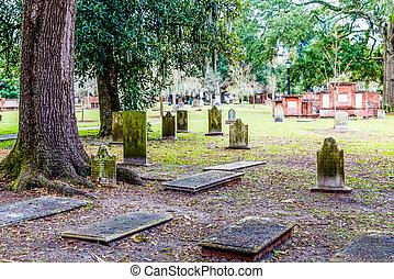 Tumbas antiguas en Savannah
