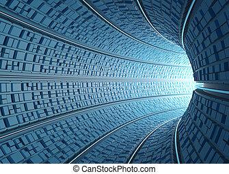 Tunel / concepto de tecnología