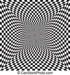 Tunel, vector de fondo abstracto
