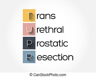 tupr, médico, siglas, prostatic, plano de fondo, resección, -, concepto, trans, urethral