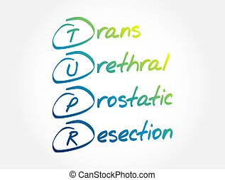 tupr, plano de fondo, urethral, resección, médico, siglas, trans, prostatic, concepto, -