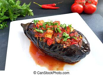 turco, imam, alimento, tradicional, bayildi