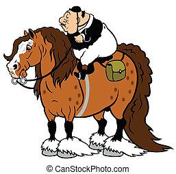 Turismo de caballos de dibujos animados