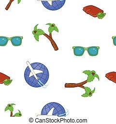 Turismo en el patrón del mar, estilo de dibujos animados