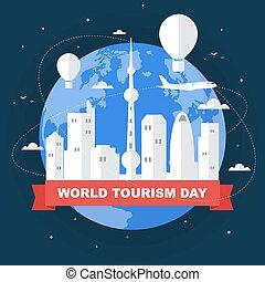 turismo, mundo, beijing, ilustración, día, china, asia, viaje, ciudad