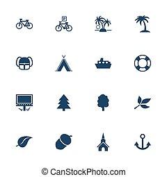Turismo y iconos de ocio