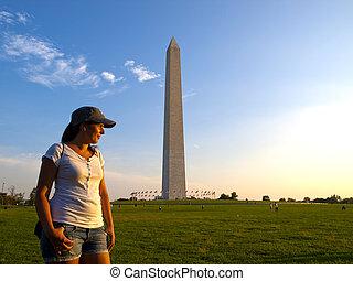 Turista en Washington DC