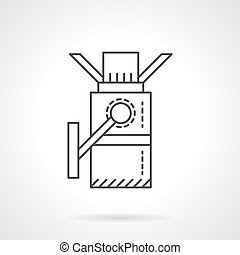 Turnstile línea plana de diseño icono vector vector