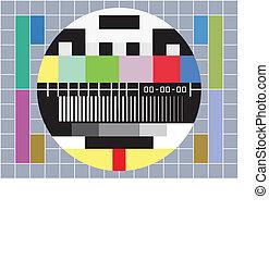 Tv con pantalla de prueba sin señal