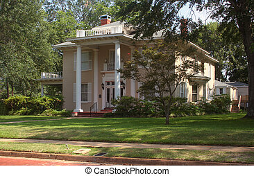 tyler, prebélico, hogar, tejas, histórico, mansión