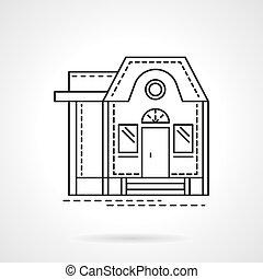 Ubicación de icono vector de diseño plano